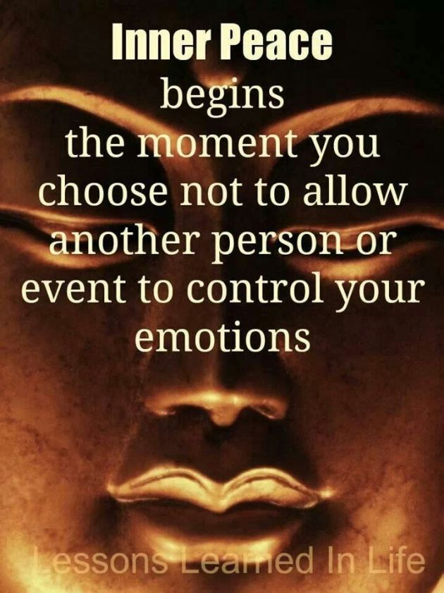 You Are In Control Of Your Emotions!